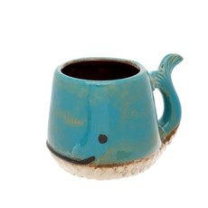 Indaba Whale Mug Blue