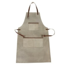 Indaba Canvas and Leather Natural Apron