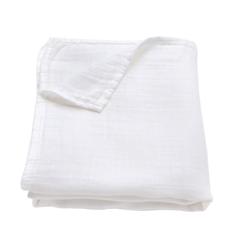 Ali+Oil Ali+Oli Muslin Swaddle Blanket (Pure White)