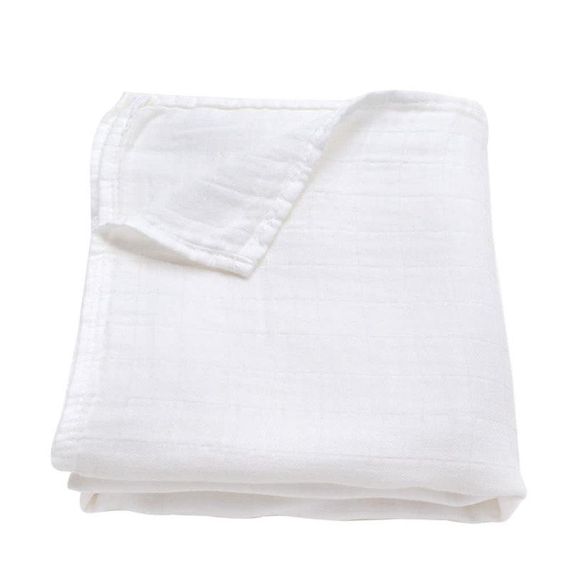 Ali+Oil Ali+Oli Muslin Swaddle Blanket (Pure White)