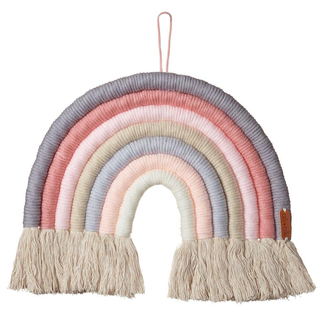 Ali+Oil Ali+Oli Macrame Nursery Wall Décor - Rainbow (Ice Cream)