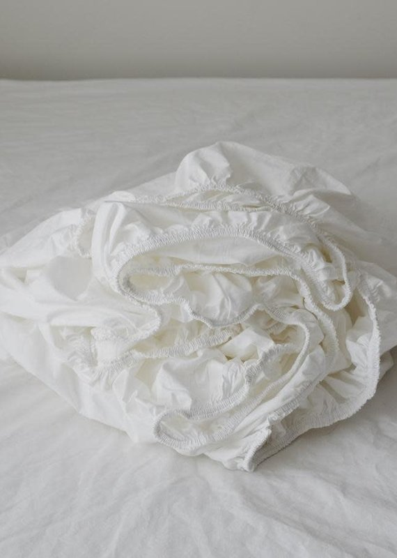 Fitted Sheets - White - King