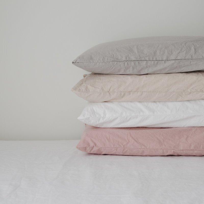 Pillow Case 2 Pack - White - King