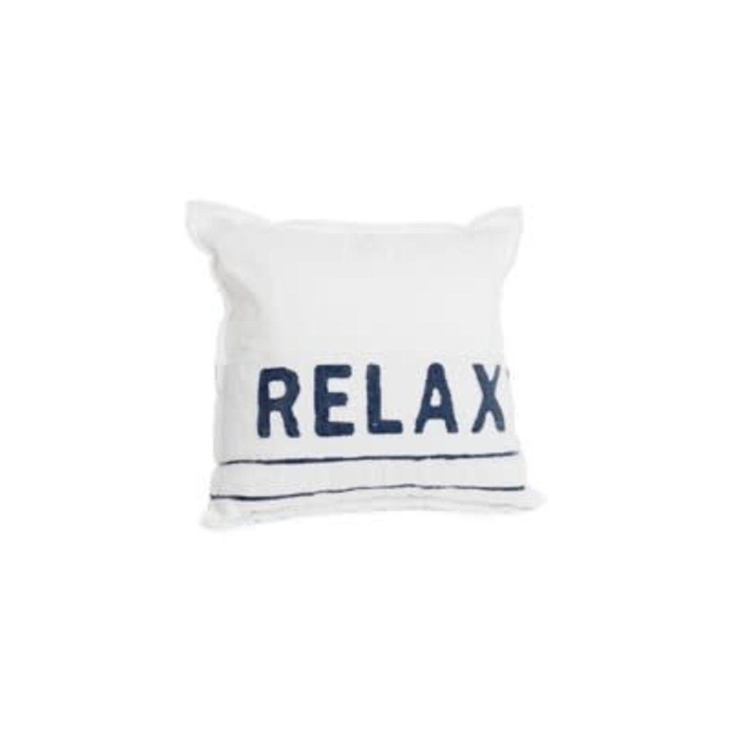 """The Pine Centre Throw Pillow - Relax - 17"""""""