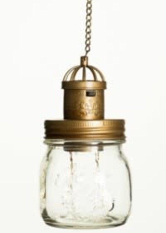 "The Pine Centre Solar Lamp Mason Jar - Clear - 19"""
