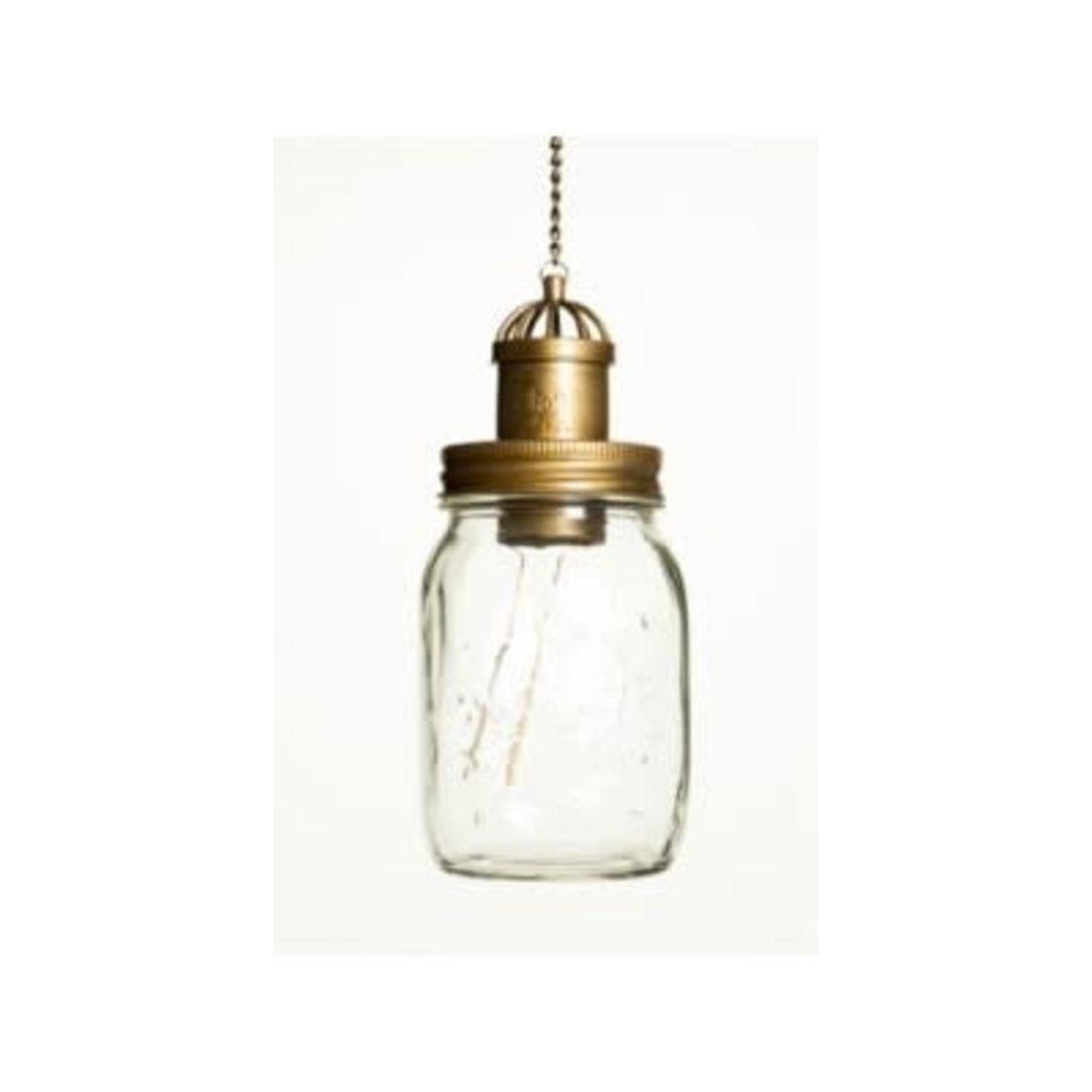 "The Pine Centre Solar Lamp Mason Jar - Clear - 21"""