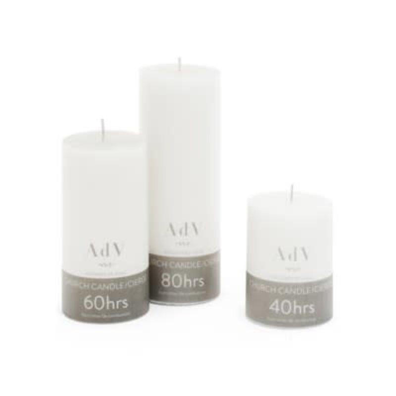 The Pine Centre ADV Candle White 3x4