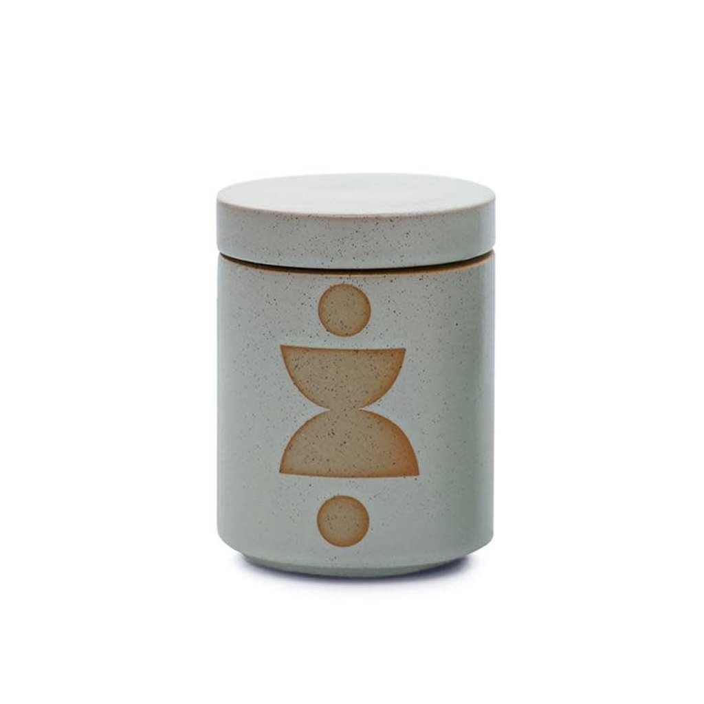 Paddywax FORM 12 OZ MINT GLAZED CERAMIC WITH LID - OCEAN ROSE AND BAY