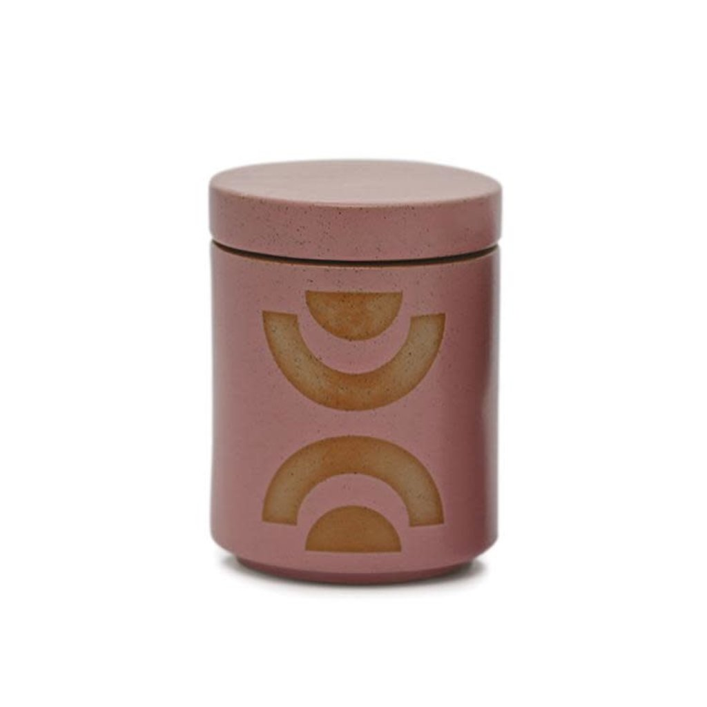 Paddywax FORM 12 OZ MAUVE PINK GLAZED CERAMIC WITH LID - MANDARIN MANGO
