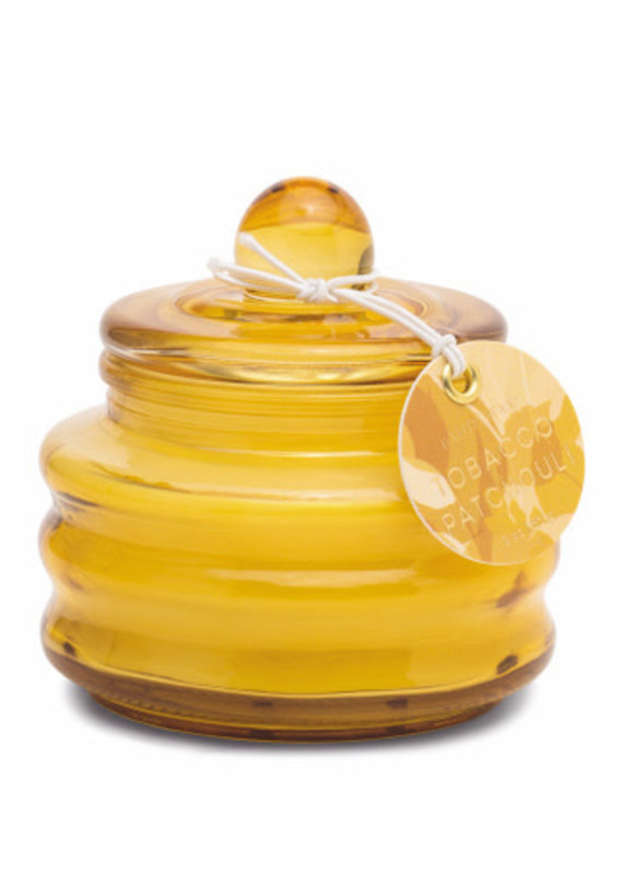 Paddywax BEAM 3 OZ OCHRE GLASS - TOBACCO PATCHOULI