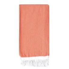 Basic Single Stripe Towel  Coral