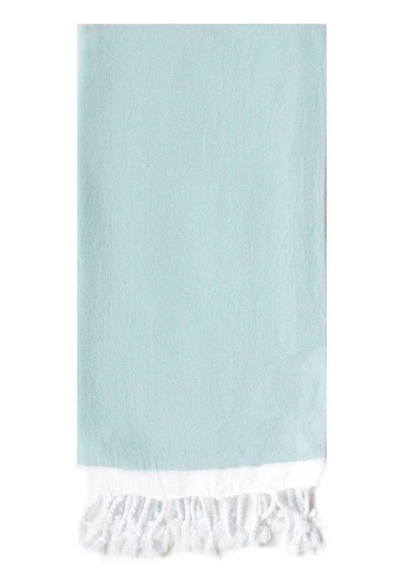 Turkish T Basic Single Stripe Towel  Sky