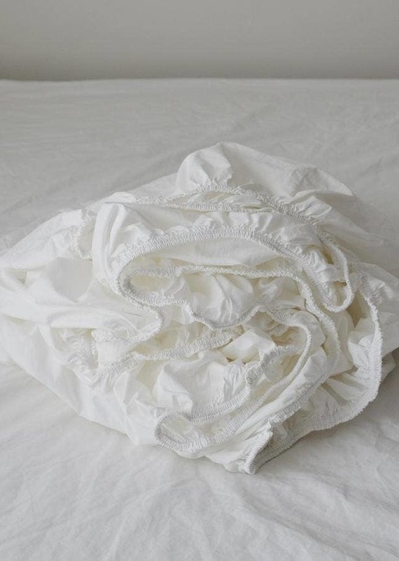 Fitted Sheets - Queen, White