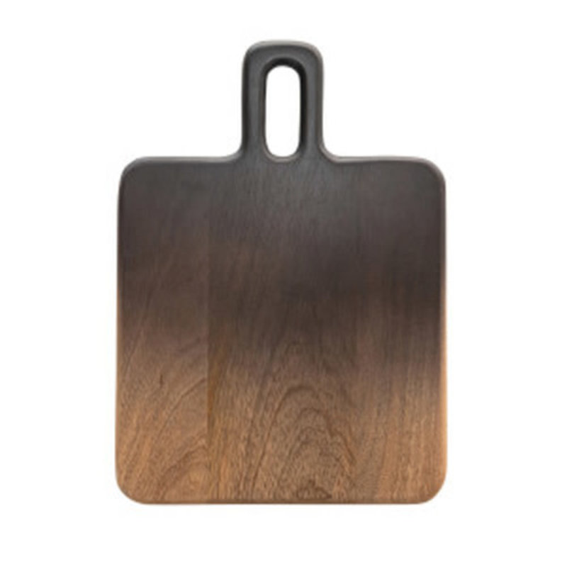 Bloomingville MANGO WOOD CHEESE/CUTTING BOARD W/ HANDLE, BLACK & NATURAL OMBR