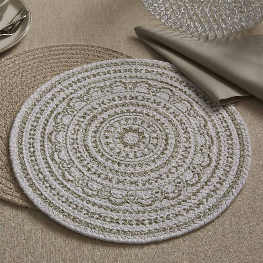 Split P Zuri Medallion Printed Round Placemat - Mushroom