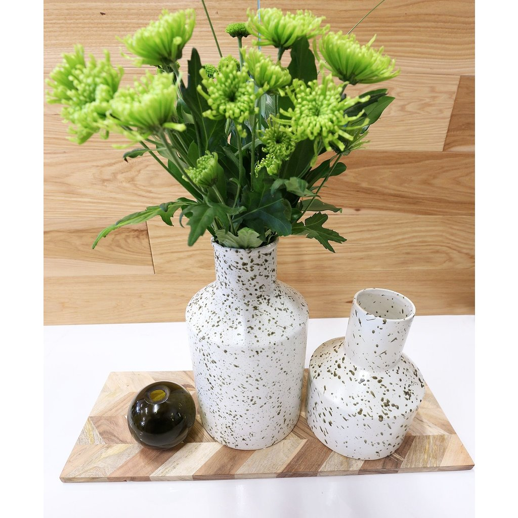 The Pine Centre George - Large Ceramic Vase - Black/White