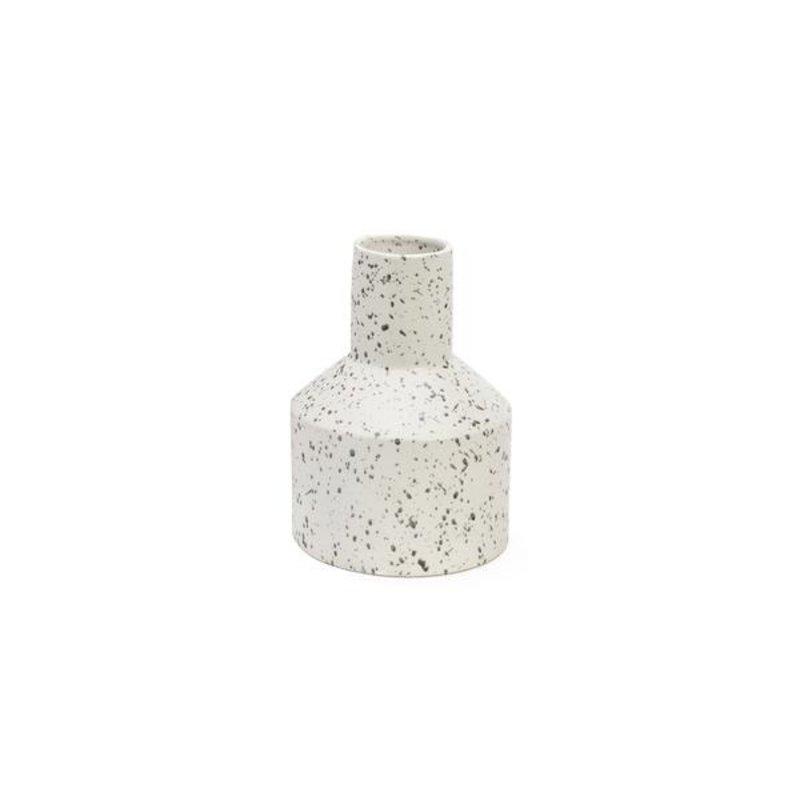 The Pine Centre George - Small Ceramic Vase - Black/White