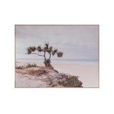 Creative Coop Framed Canvas Wall Decor With Seascape