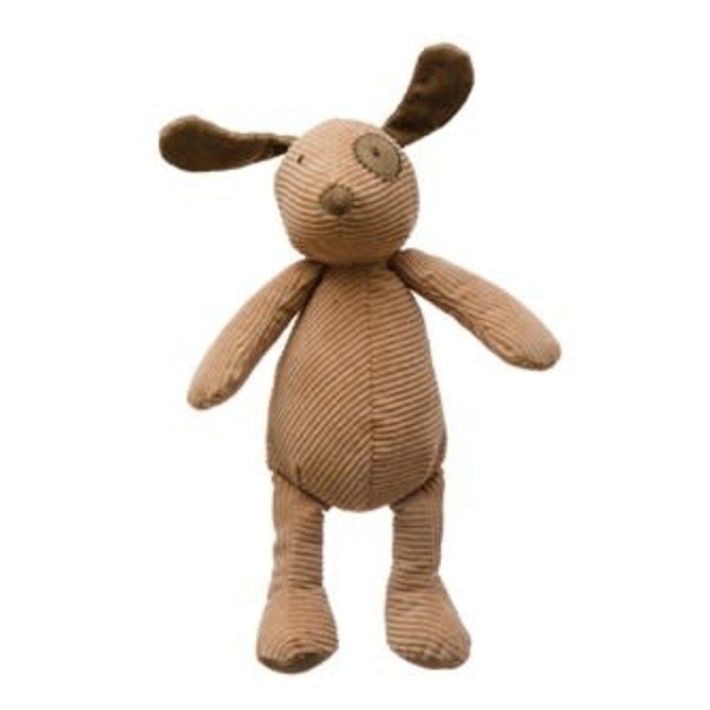 Creative Coop Plush Corduroy Dog - Tan