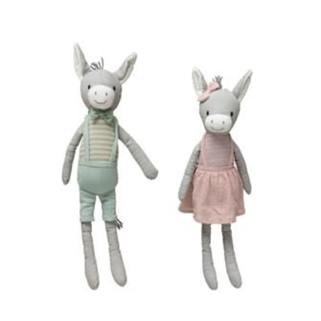 Creative Coop Cotton Knit Donkey