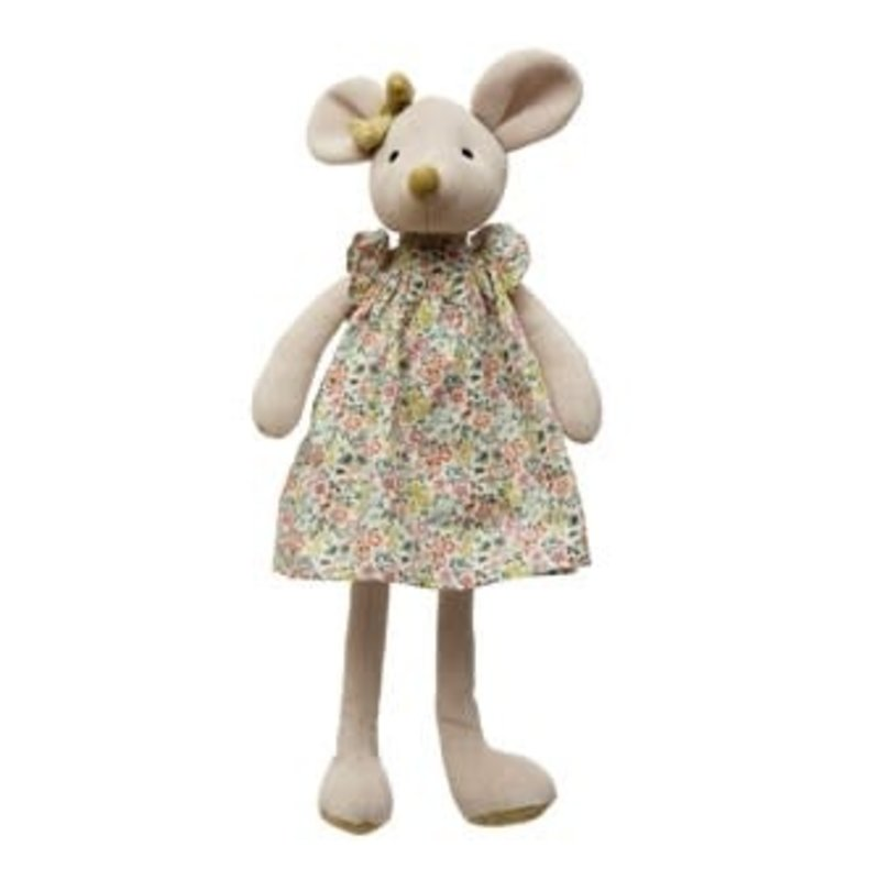 Creative Coop Plush Mouse in Dress