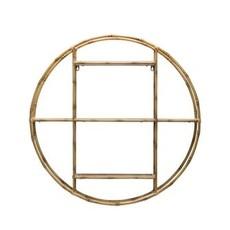 Creative Coop Metal Bamboo Style Wall Shelf