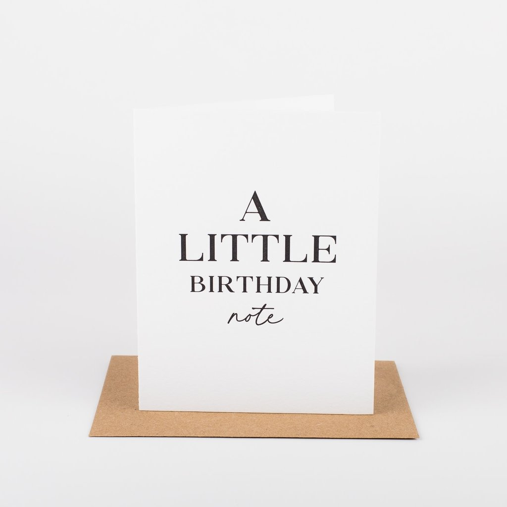 Wrinkle and Crease Paper Products A Little Birthday Note Greeting Card