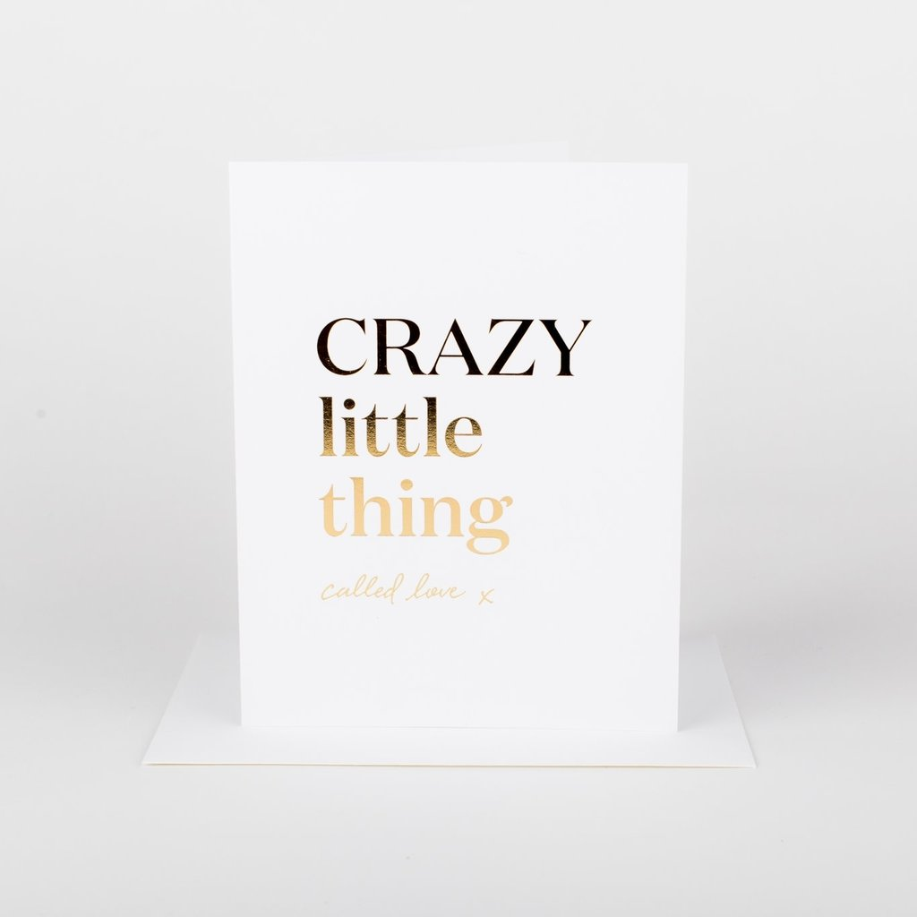 Wrinkle and Crease Paper Products Crazy Little Thing Called Love Greeting Card