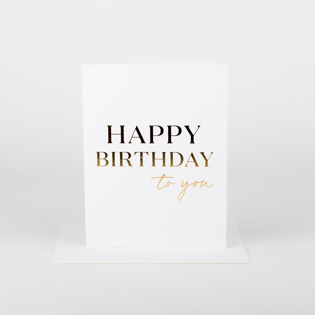 Wrinkle and Crease Paper Products Happy Birthday to You Card Greeting Card