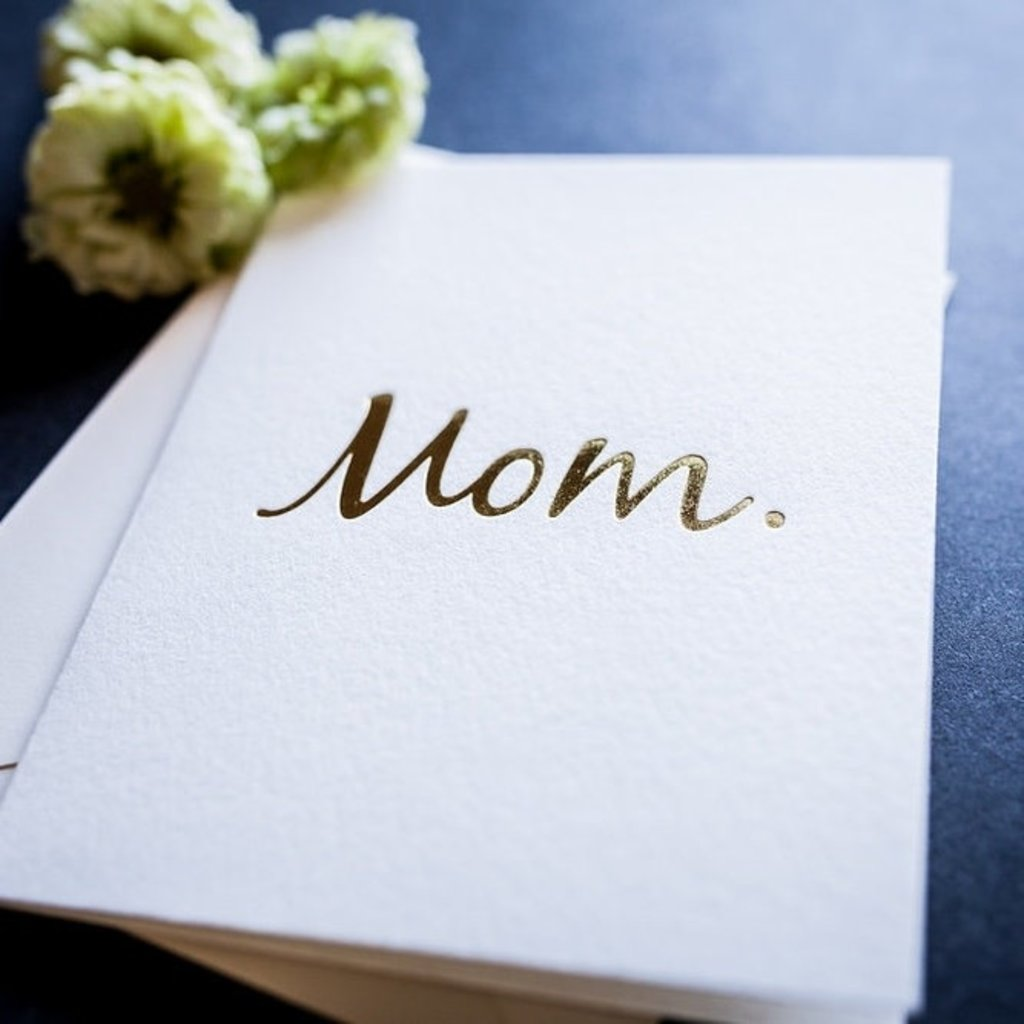 Wrinkle and Crease Paper Products Mom - Greeting Card