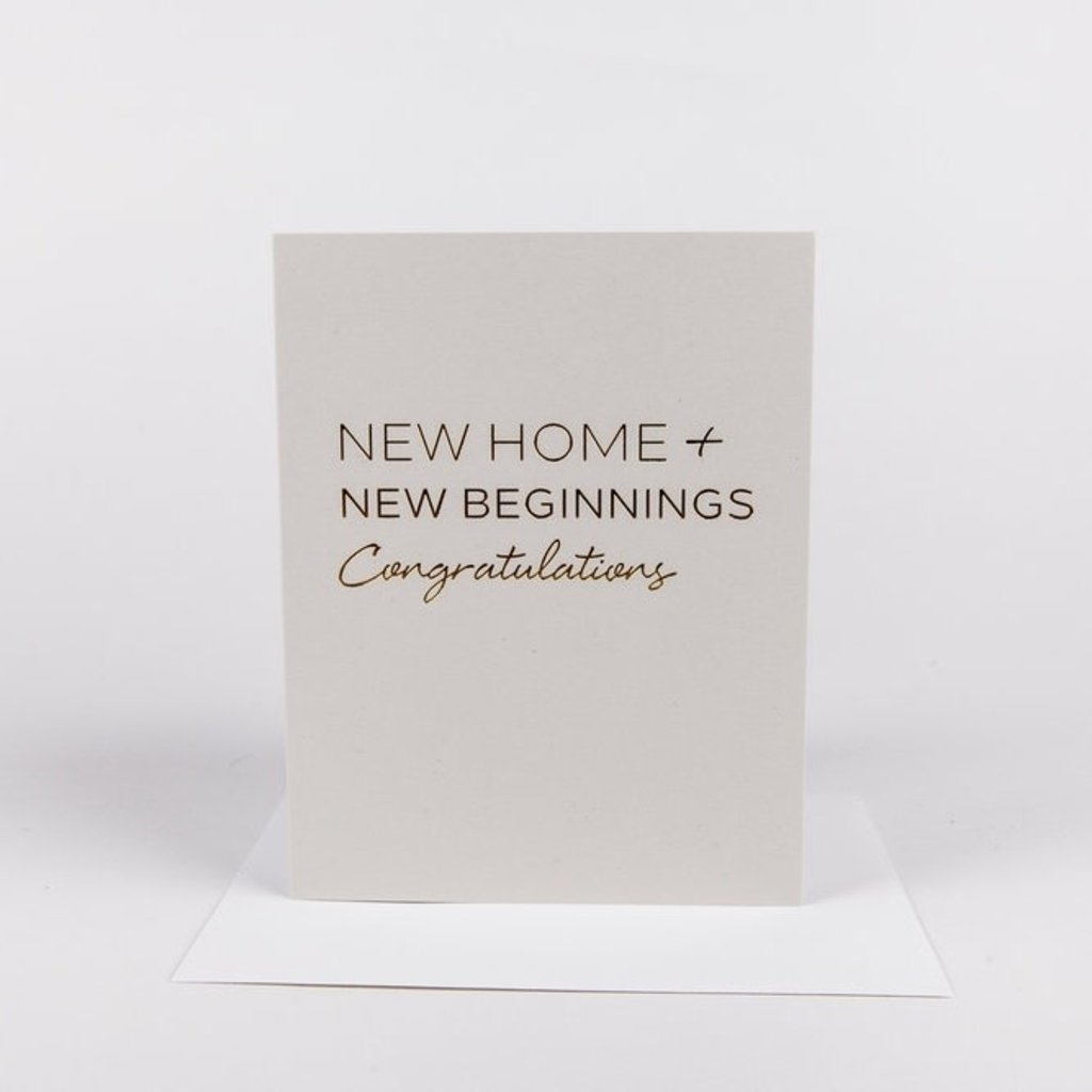 Wrinkle and Crease Paper Products New Home - Greeting Card
