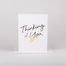 Wrinkle and Crease Paper Products Thinking of You - Greeting Card