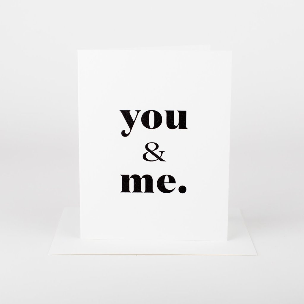 Wrinkle and Crease Paper Products You & Me Greeting Card