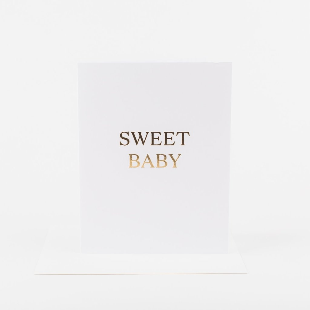 Wrinkle and Crease Paper Products Sweet Baby (Gold) Greeting Card