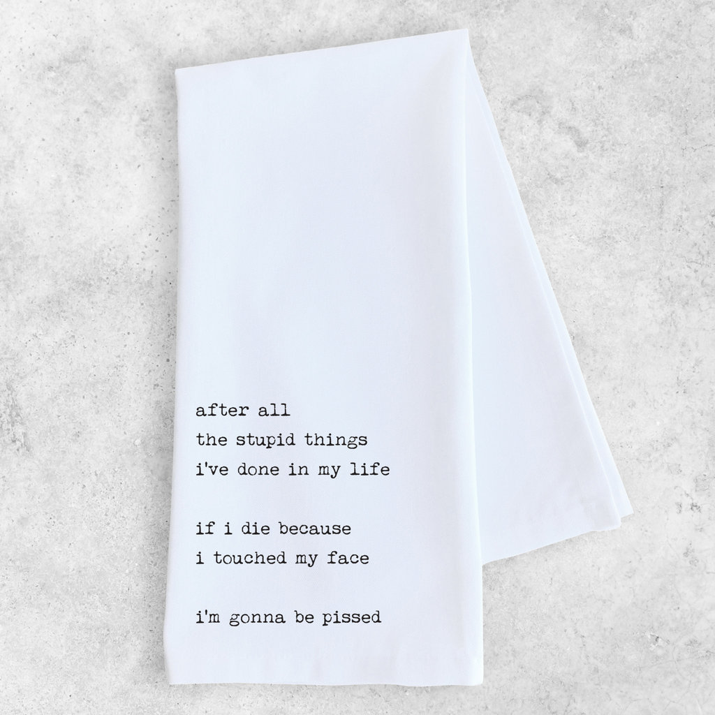 Dev D & Co. After All The Stupid Things I've Done - Tea Towel