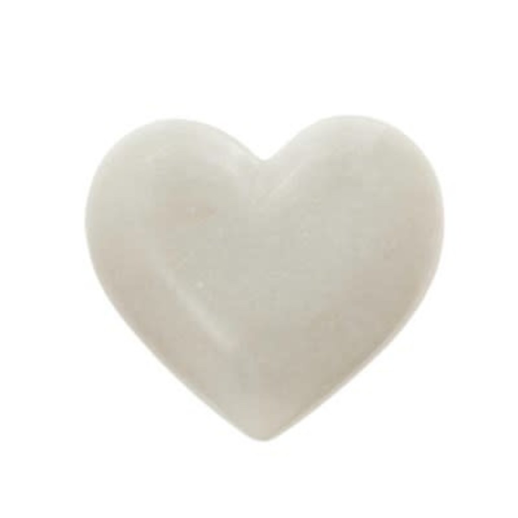 Indaba White Marble Heart L