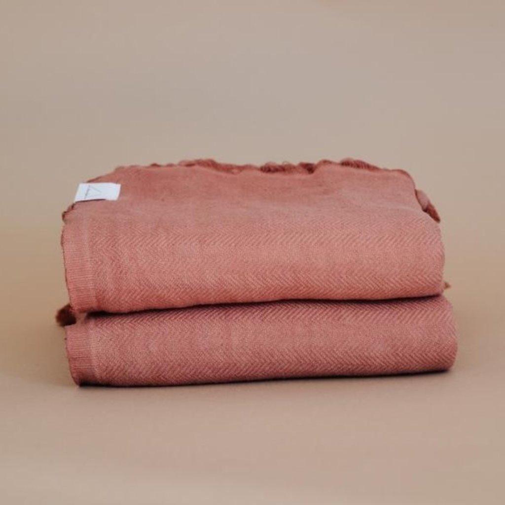 Oversized Turkish Towel - Cinnamon