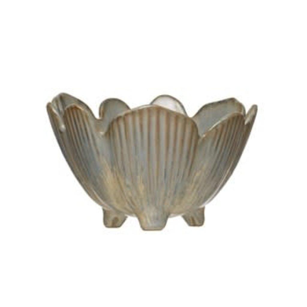 Creative Coop Porcelain Flower Bowl
