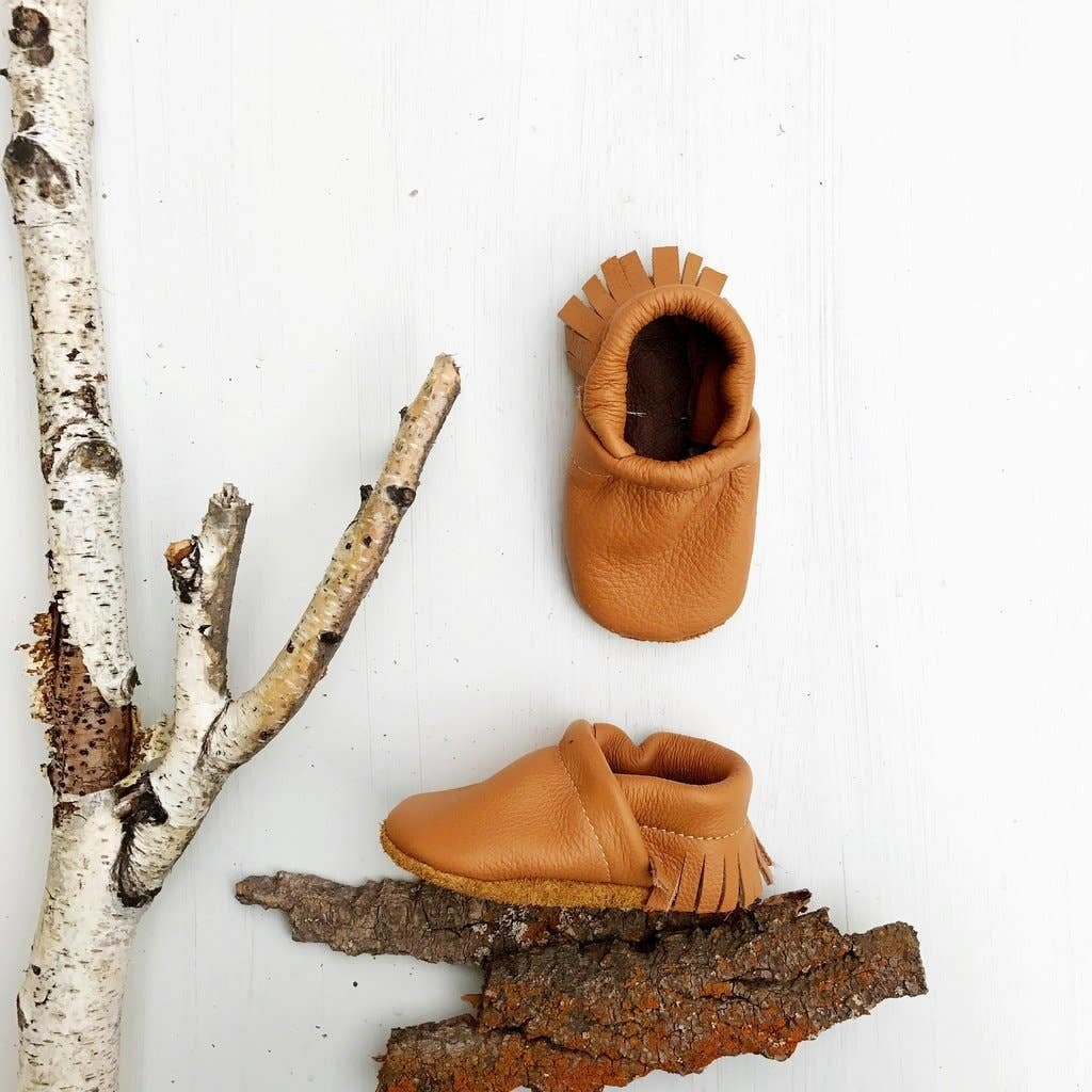 Starry Knight Designs Moccs Shoe - Camel  NB-3M