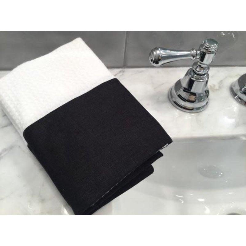 Pico Charlie Cole Spa Waffle Weave Hand Towel - Set of 2 - Dark Grey Linen