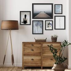 AmericanFlat Home Ocean Bridge - 6 Piece Framed Gallery Wall Set - Black