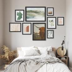 AmericanFlat Home Southwest Shapes - 9 Piece Framed Gallery Wall Art Set  Black