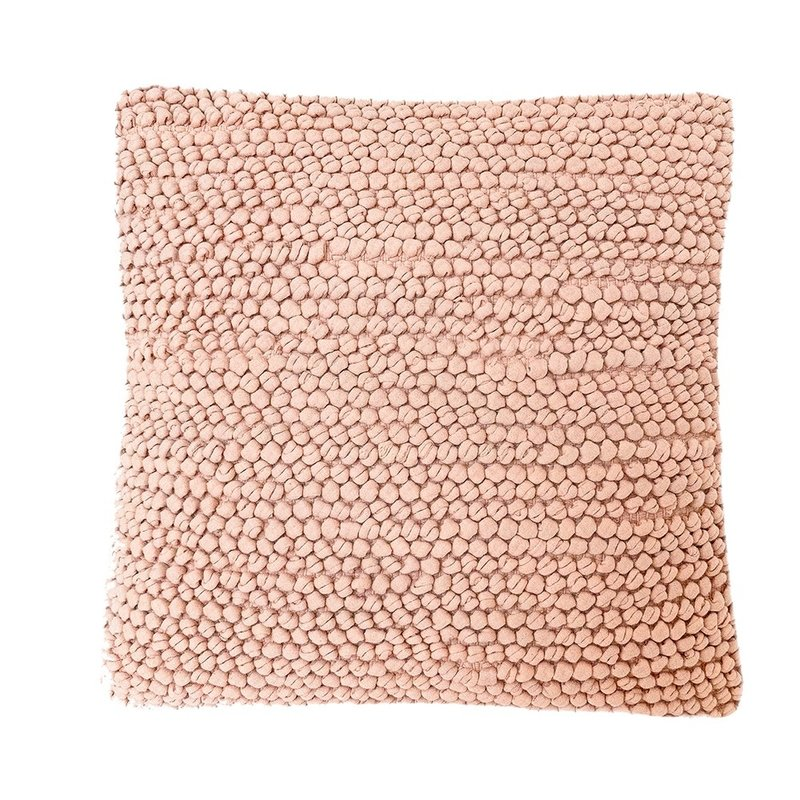Anaya Home Pink Knotted Texture Cotton Pillow