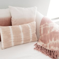Anaya Home Pink Ombre Dyed Linen Pillow