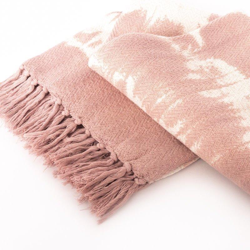 Anaya Home Pink Tie Dye Throw Blanket