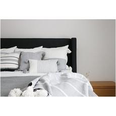 "Pokoloko Moroccan Pillow 20""x20"" Half Lt Grey"