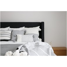 "Pokoloko Moroccan Pillow 18""x18"" Solid Lt Grey"
