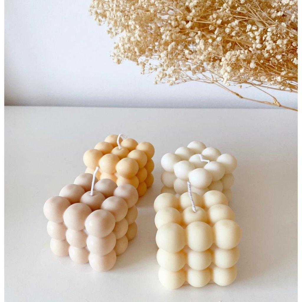 Dusty Rose Bodega Bubble Candle  - Cereal Milk - Cream