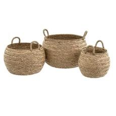 Indaba Mesa Seagrass Baskets Set of 3