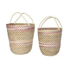 Indaba Sunset Ombre Baskets Set of 2